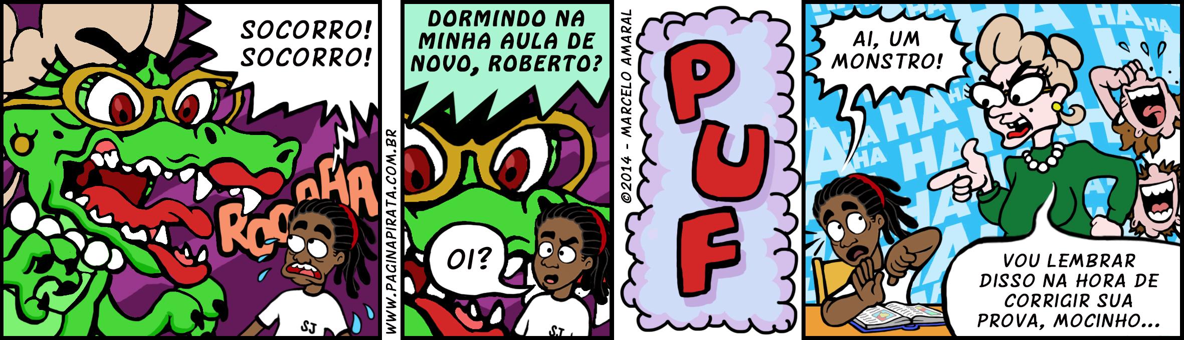#36 - Pesadelos (introduzindo a Prof.ª Lurdes nas tirinhas!)