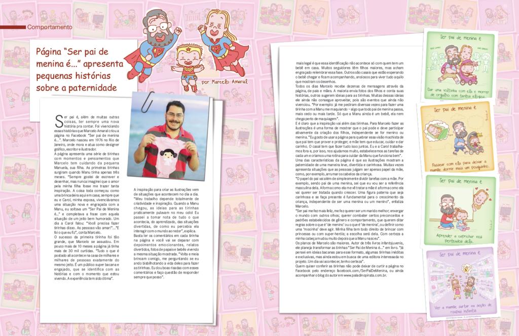 Matéria Revista Citta Dia Ser Pai de Menina é
